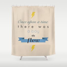 there was a boy who flew Shower Curtain