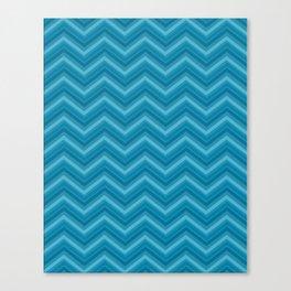 Teal Chevron Pattern Canvas Print
