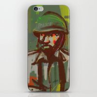 police iPhone & iPod Skins featuring Police by Steeze Abiola