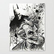 Joker: Arkham Smiles Canvas Print