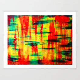 Dry Brush Art Print
