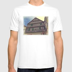 Vintage Style Photo House MEDIUM White Mens Fitted Tee