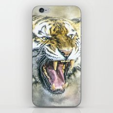 Snarling Tiger iPhone & iPod Skin