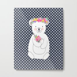 Woodland Bear Metal Print