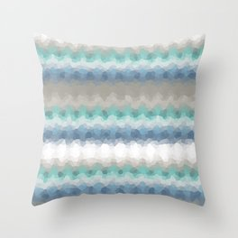 """Abstract pattern """" Blue crush """"  . Throw Pillow"""