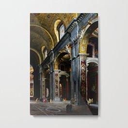 Giovanni Paolo Panini Masterpiece: St. Peter's Basilica Metal Print