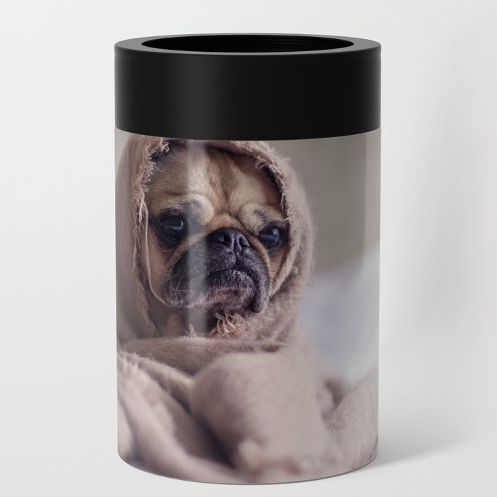 Snug pug in a rug Can Cooler
