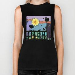 Bayside Sunset Silhouettes Biker Tank