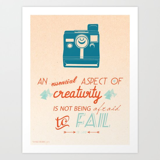 Creativity Inspirational Quote Art Print