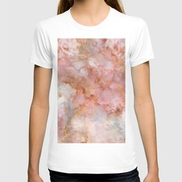 Beautiful & Dreamy Rose Gold Marble T-shirt