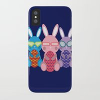 rabbits iPhone & iPod Cases featuring Rabbits by dunstanvassar