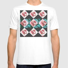 orchid patterns Mens Fitted Tee White MEDIUM