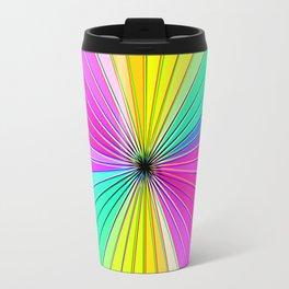 Color Burst I (Hot Pink // Minty Green) Travel Mug