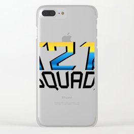 T21 Squad Down Syndrome Awareness Clear iPhone Case