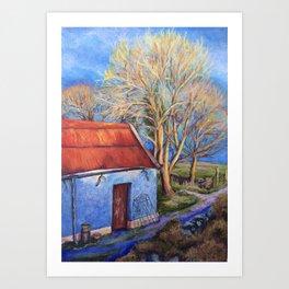 Evening Sun on the Barn Art Print
