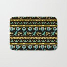 Egyptian  Ornament Symbols Pattern Bath Mat