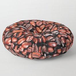 Coffee beans pattern Floor Pillow