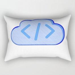 Funny Tech T-Shirt Code Humor What Cloud Just Someone Else's T-Shirt Rectangular Pillow