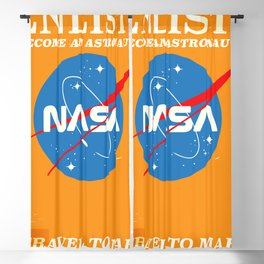 "NASA Enlist! Become an Astronaut ""Travel to Mars"" Blackout Curtain"