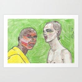 """Girl, Look How Orange You F*ckin' Look"" Art Print"