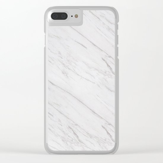 A Marble Clear iPhone Case