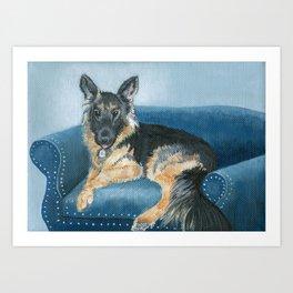 German Shepherd Angus Art Print