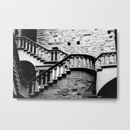 The Stairs at Poppi Castle Metal Print