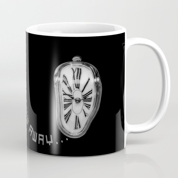 Salvador Dali Inspired Melting Clock Time Is Away Coffee Mug