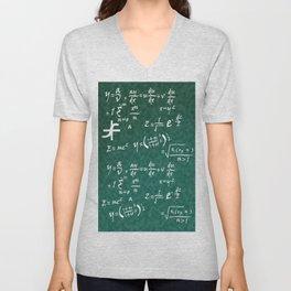 Math Equations Unisex V-Neck