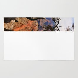 Grand Canyon View Through Dead Tree Rug