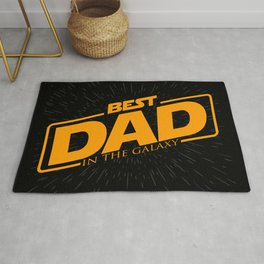 Best Dad in the Galaxy | Father's Day Rug