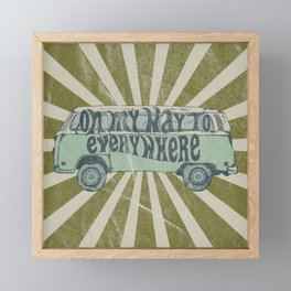 On My Way To Everywhere Framed Mini Art Print