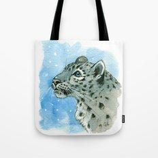 Snow Leopard & snowflakes 860 Tote Bag