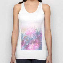 Magical Nature - Glitch Pink & Blue Unisex Tank Top