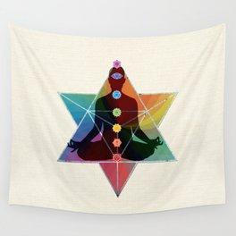 Sacred Geometry Merkaba Chakra Meditation Wall Tapestry