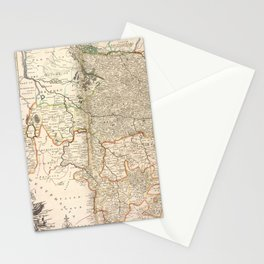 A new & exact map of the electorat of Brunswick-Lunenburg and ye rest of ye Kings Dominions in Germany Stationery Cards