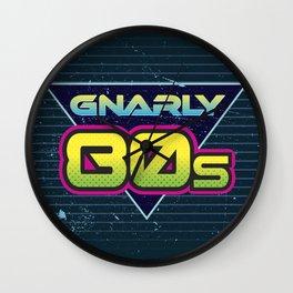 Totally Gnarly 80s Retro Design Wall Clock