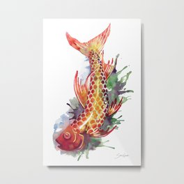 Fish Splash Metal Print
