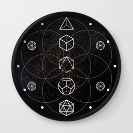 Platonic Solids Wall Clock
