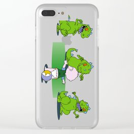 Jurassic Baby Clear iPhone Case