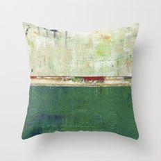 Limerick Irish Ireland Abstract Green Modern Art Landscape Throw Pillow