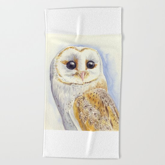 Owl bird Beach Towel