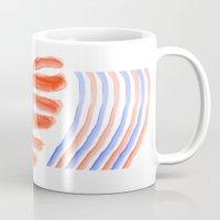 patriotic Mugs featuring Patriotic Heart by elledeegee