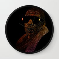 jay z Wall Clocks featuring Jay-Z Color by William