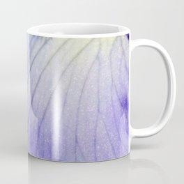 Blue Violet Iris Petal Close up Coffee Mug