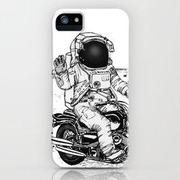 Moon Biker iPhone Case