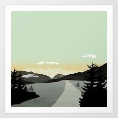 Misty Mountain II Art Print