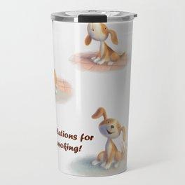 Greeting for Quitting Smoking- Dog Travel Mug