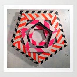 HEX STUDY Art Print