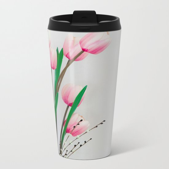 Tulips in spring Metal Travel Mug